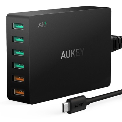 AUKEY USB 6 port Charger W PA-T11