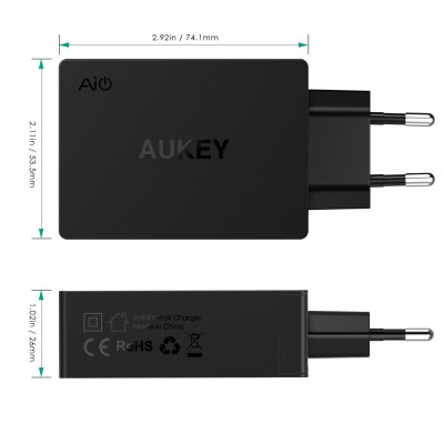 AUKEY Quick Charge 3.0 USB C 3 port charger - PA-Y4